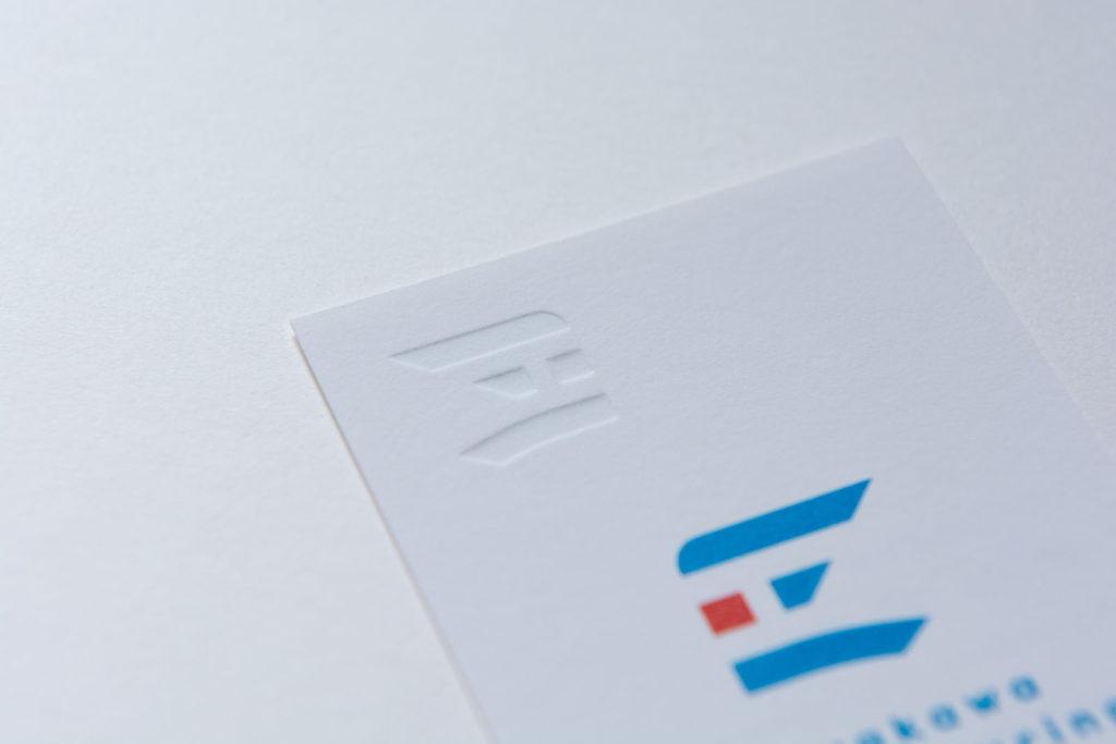 早川製作所様-名刺のエンボス加工(裏)